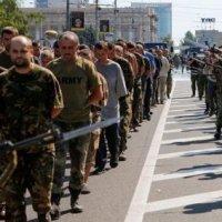 В «день украинской незалежности» в Донецке прошел парад пленных :: 23 августа армия ополчения перешла в решительное наступление! (ВИДЕО)