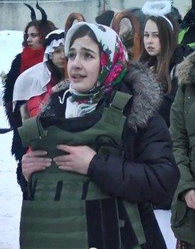 Католическая молодежь поздравила украинскую армию (ВИДЕО)