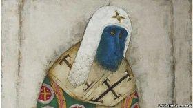 От кого произошли, того и прославляем :: Русский художник из Латвии заменяет лики православных святых мордами обезьян