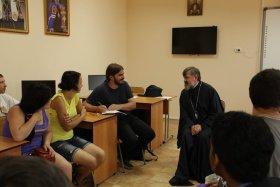 Католическая делегация в епархиальном центре Благовещенска