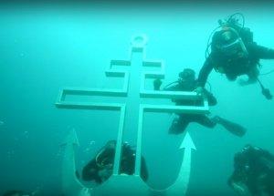 Православный крест установили на дно Черного моря в праздник Воздвижения Креста Господня
