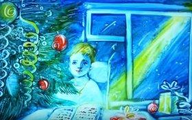 С Рождеством Христовым: Цветная песочная анимация к Рождеству от Ксении Симоновой