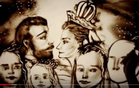 ЛЮБОВЬ СИЛЬНЕЕ: Песочная анимация Ксении Симоновой (ВИДЕО)