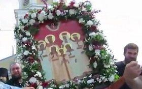 К 100-летию мученической кончины святой Царской Семьи: Царский Крестный ход в Козельске (Видео)