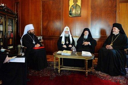 О чем говорили предстоятели Вселенского Патриархата и РПЦ? Перевод греческой статьи о встрече двух Патриархов